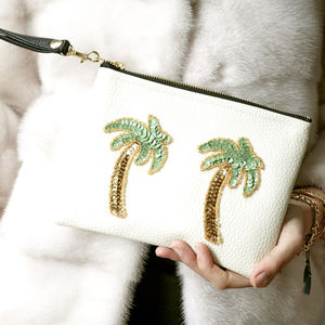 Palm Tree Mini Clutch - bags & purses