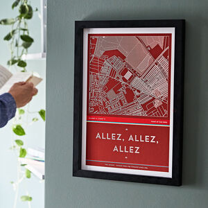Football Stadium Map And Crowd Chant Print