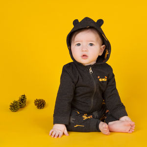 Charcoal Bear Ear Zip Hoody - view all new