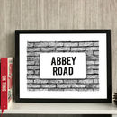 Personalised Street Name Print