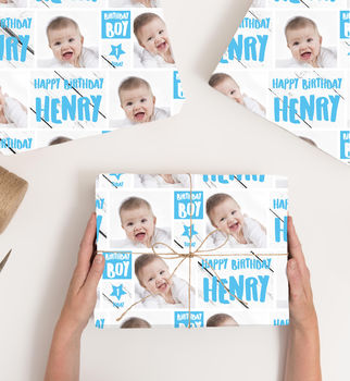 Personalised Photographic Wrapping Paper