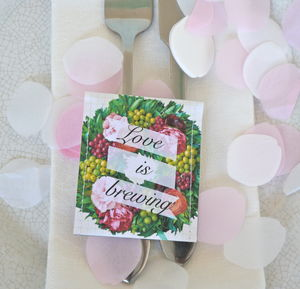 Floral Wreath Wedding Tea Favour