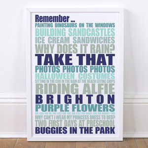 Personalised Remember Art Print - posters & prints