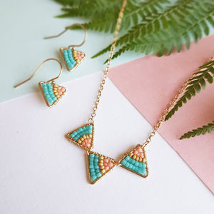 Mini Gold Geometric Jewellery Set