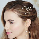 Star Swarovski Earrings And Hairpin Set Lunaria