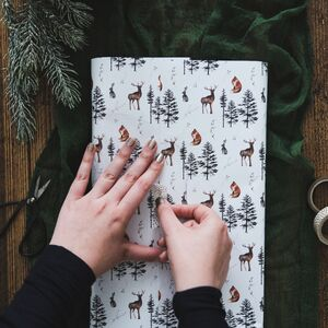 Forest Animals Watercolour Wrapping Paper