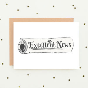 'Excellent News' Congratulations Card