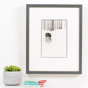 Bear Reflection Children's Illustration Print - nursery pictures & prints