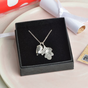 'From Little Acorns' Christening Necklace For Girls - christening gifts