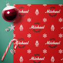 Personalised Robot Christmas Wrap