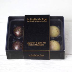 Six Luxury Moulded Chocolate Truffles - edible favours