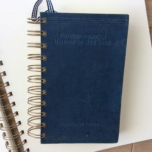 'Knickerbockers New York' Upcycled Notebook