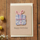 Handmade Birthday Card Knitted Present