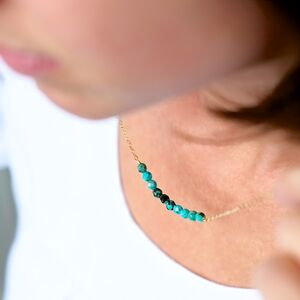 December Birthstone Real Turquoise Necklace