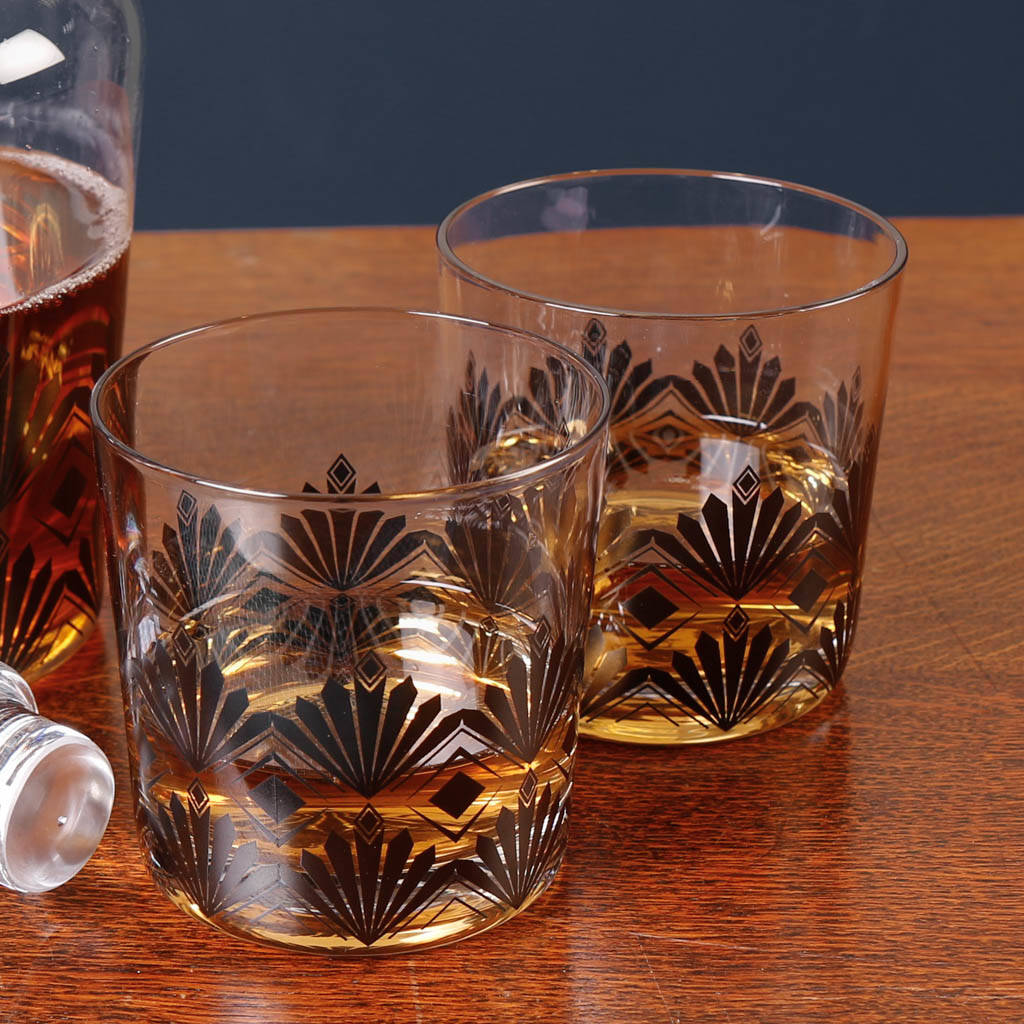 Rene Art Deco Whisky Carafe And Tumbler Set By Dibor Notonthehighstreet Com