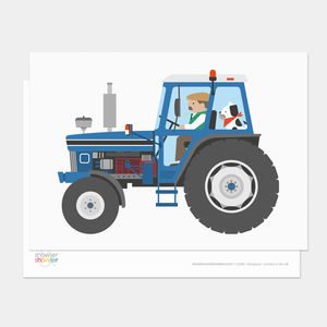 Blue Tractor Postcard - shop by category