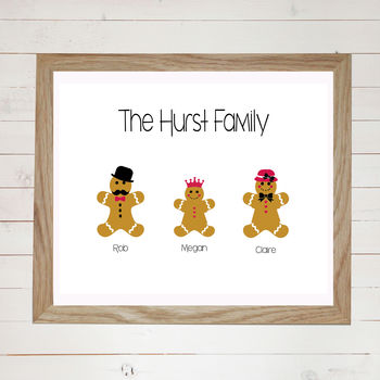 Gingerbread Personalised Family Print