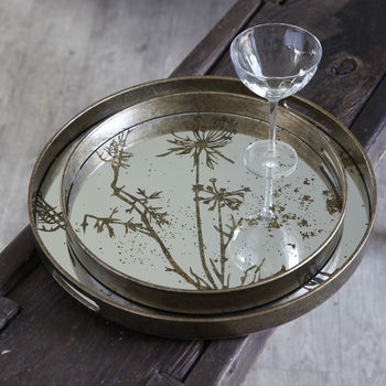 Decorative Round Mirror Trays