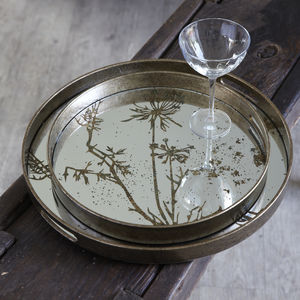 Decorative Round Mirror Trays - 40th birthday gifts