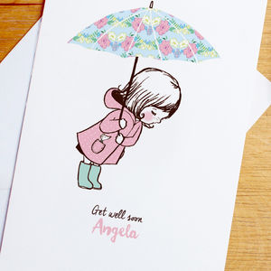 Personalised 'Get Well Soon' Card