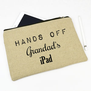 Personalised Grandad's iPad Case - tech accessories for him