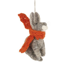 Fair Trade Bunny With Orange Scarf Biodegradable