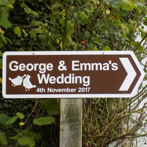 Personalised Wedding Sign With Illustrations - signs