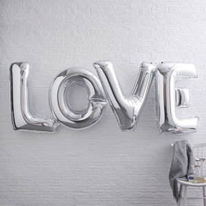 Giant Love Foiled Balloons Banner - toys & games