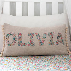 Personalised Name Cushion - bedroom