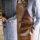 Personalised Leather Artisan Diy Apron