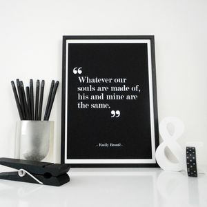 Souls, His And Mine Love Quote Print
