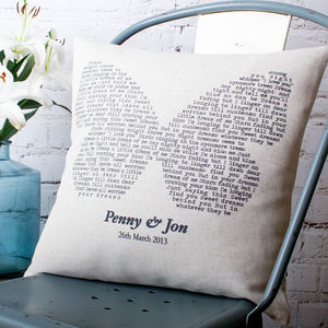 Personalised Butterfly Song Cushion Cover