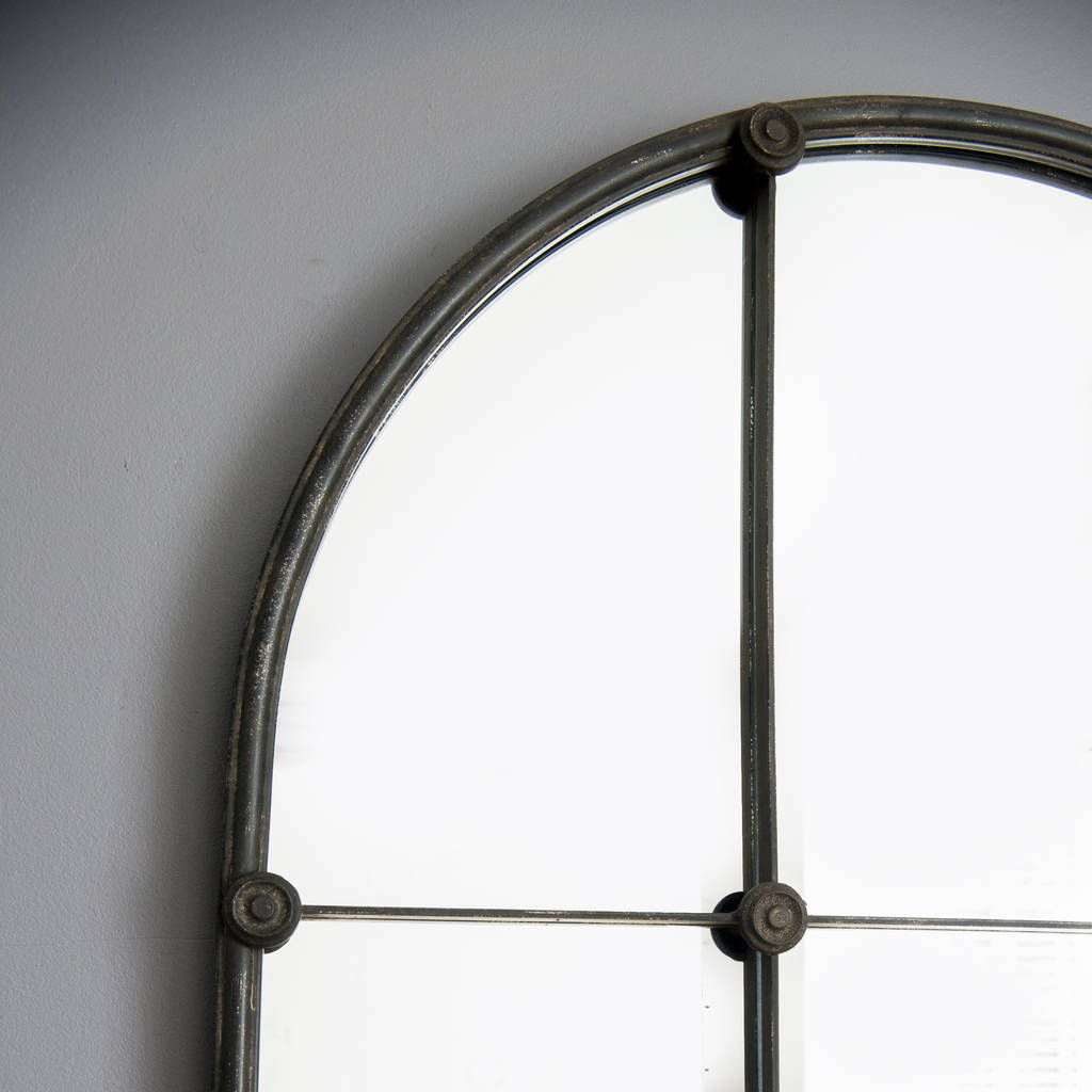 Ava sectioned metal window mirror by decorative mirrors for Window mirror