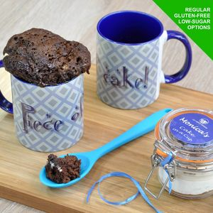 'Piece Of Cake' Chocolate Mug Cake Kit Personalised - mugs
