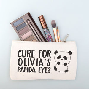 Personalised Panda Make Up Purse