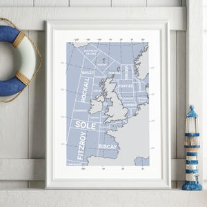 The Shipping Forecast Regions Print - posters & prints