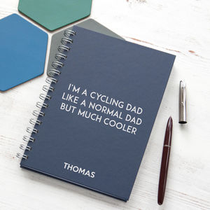 Personalised Cooler Than A Normal Dad Notebook