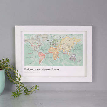 You Mean The World To Us Framed Print Gift