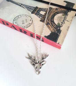 Stag Christmas Necklace - necklaces & pendants