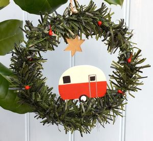 White Caravan Christmas Decoration
