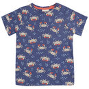Purple Ocean Crab All Over Print T Shirt