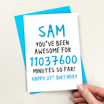 Happy Birthday In Minutes Birthday Card