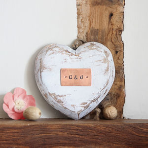 Personalised Wooden Hanging Love Heart - home accessories