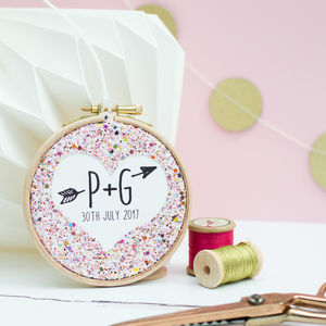 Personalised Wedding Favour Embroidery Hoop - wedding favours