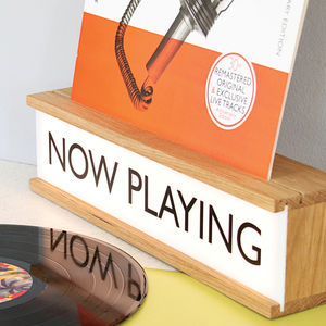 Personalised Vinyl Cover Holder Wooden Lightbox - gift guide edit
