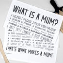 What Is A Mum Poem Tea Towel