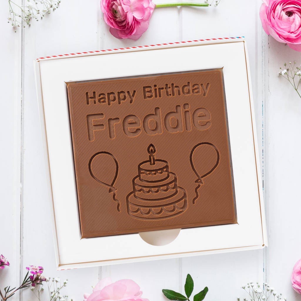 Personalised 'Happy Birthday' Chocolate Card