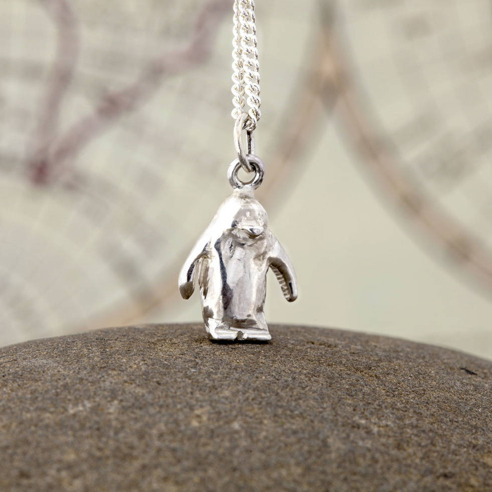 Solid silver penguin pendant by nicola hurst designer jewellery solid silver penguin pendant aloadofball Choice Image