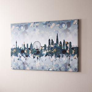 London City Skyline Print Canvas - gifts for him