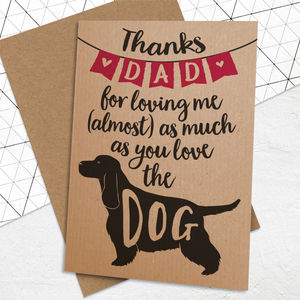 Father's Day Card For Dog Loving Dads - funny cards